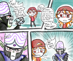 Just a father son talk by meimeix