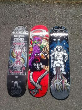Skateboards done for Loose Cannon by trejackt