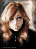 Speed Painting : Oceane by mad-smile