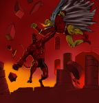 TLIID 246 Fight - Hellboy versus The Demon Etrigan by Nick-Perks