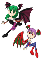 Morrigan N Lilith slim by Alilali