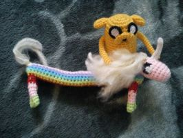 Jake and Lady Rainicorn by michelle-murder
