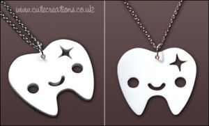 White Tooth Necklace by Cute-Creations
