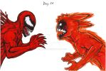 Day 26 - Carnage VS fourtails transformation Narut by YardnE