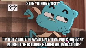 Gumball the Cartoon Critic: Johnny Test by thekirbykrisis