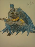 Steampunk Batman Color Test 3 ..from sketchbook by dhbraley