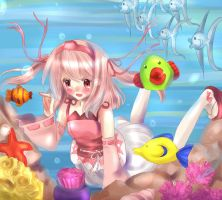 Coral under the sea by DanPopu