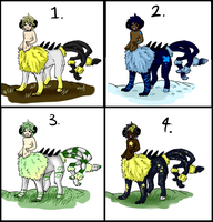 Centaur adoptables CLOSED by ExoticDreamer