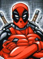 Sketch Card - Deadpool commiss by gb2k