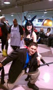 I was with a Cute Bunny Girl at CC-NYAF 2011 by NYCAnimeTrainBoy5694