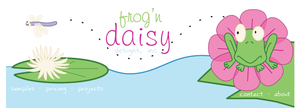 Frog 'n Daisy by colormist
