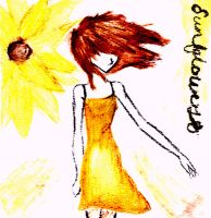 SunFlowers-drawn by hinata8D