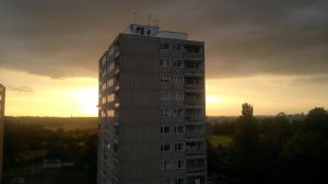 sunset 2 flat view by LETSOC