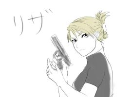 FMA Sketch: Riza Hawkeye by PeachBerryDivision
