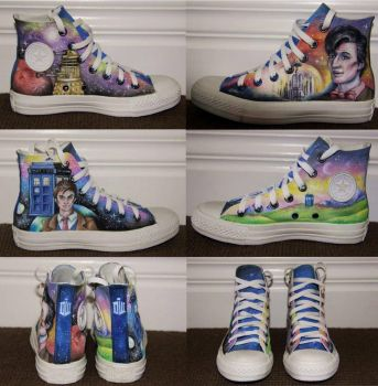 'Doctor Who' painted shoes by callum8am