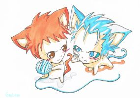 GrimmxIchi Kitty Cats by GanChan