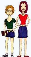 Lexi and Sue: Daria-fied by SeskiLexi