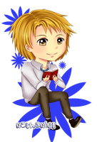 Chibi Nathaniel - Amour Sucre by NoLightArtist