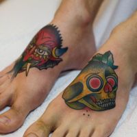 Feet Tattoo's by DevilJack28