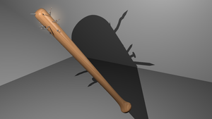 nailed baseball bat apocalypse version (blender) by jensdevries