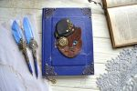 His grace Cat - Handmade steampunk notebook by IkushIkush