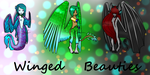 Winged Beauties Adoptables Auction by Tempo-Beat-Desu