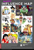 My Influence Map by BehindtheVeil
