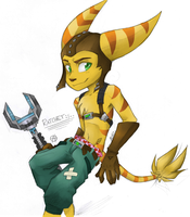 Ratchet Lombax :colored: by Babywarrior5