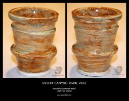 Desert Canyon Swirl Vase by leopardwolf