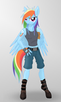 Rainbow Dash - Anthro by romus91
