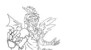 Humanized Discord (Lines) by RedApropos