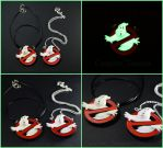 Ghostbusters Symbol Charm Pendant Glow in the Dark by Tsurera