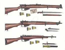 WWII British Lee-Enfield Rifles by stopsigndrawer81