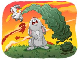 Bunny Bombs! by tombancroft