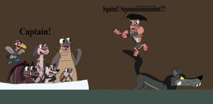 Captain Gutt vs the Wolf by HunterxColleen