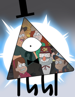 Gravity Falls - Bill Cipher Knows Lots of Things by Raxyl