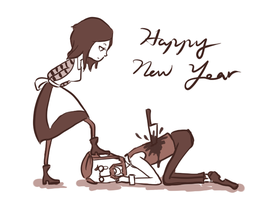 happy new year by annetsai