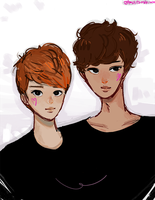 D.O and Kai by starjunk