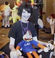 Gamzee with little Cal by Wisher367