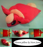 Flareon pillow by Neon-Juma