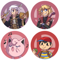 SSB4 buttons set 3 by ClefdeSoll