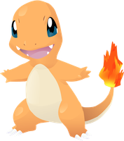 Charmander Vector Lineless: 004 by AgentLiri
