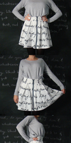 Skirts with words. by PinkCatsCookieShop