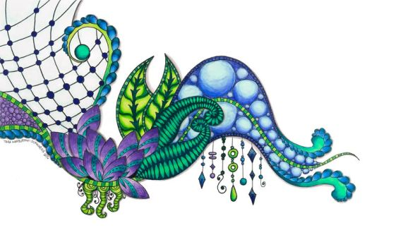 Colorful Zentangle Spray by capturingstarlight