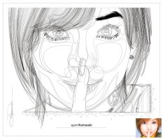 ayumiHamasaki_outlines by cd-marcus