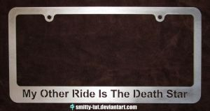 License Plate Frame Death Star by Smitty-Tut