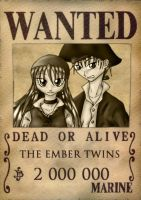 WANTED: EMBER TWINS by leifes