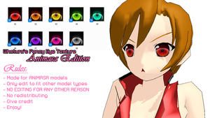 MMD Fancy Eye Pack -Animasa- by Whatura