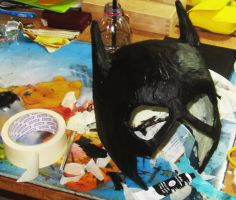 Batgirl paper mask (almost done) by minihumanoid