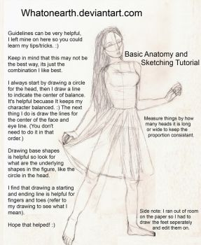 Basic Anatomy and Sketching by whatonearth
